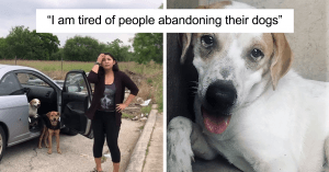 This Woman Dumped Her Dogs In The Middle Of The Road And Tired To Get Away With It